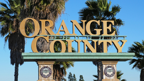 Orange County sign